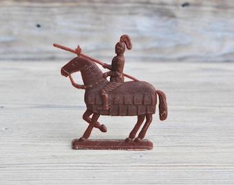 Vintage Soviet Russian plastic toy Medieval Warrior figurine,soldier.