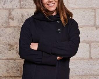 100% viscose winter 2016 hooded jacket