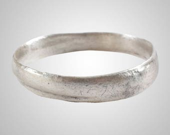 Authentic Ancient Viking  wedding Ring Band  Jewelry C.866-1067A.D. Size 10 1/4   (20.1mm)(Brr1033)