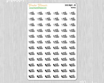 Girls Night, Neutrals - 72 Functional Planner Stickers    05