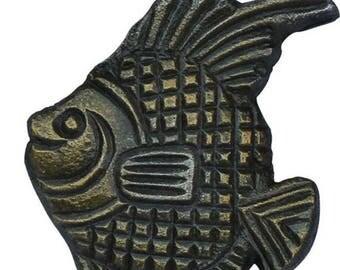 On Sale Set of 4  Angel Fish Fish Cabinet Knobs Drawer Pulls Drawer Handles Closet Door Knobs Nautical Sea Beach Ocean Decor Antique Brass