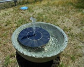 Stone Bowl With Solar Fountain, Shipping Included