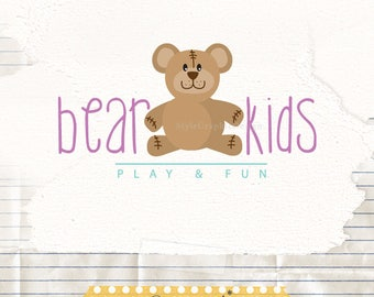 Childrens boutique logo premade - Baby logo - Premade logo design - Kids logo