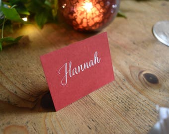 Red and White Place Cards