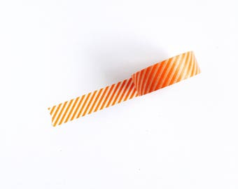 orange stripes washi tape