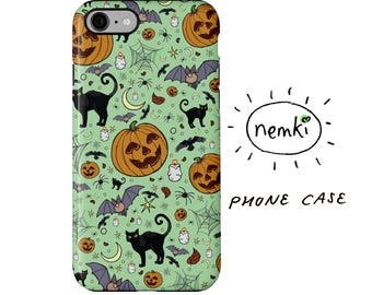 Halloween Phone Case, Halloween iPhone Case, Halloween Samsung, Cute Goth iPhone, Cute Halloween Gifts, Cute Halloween Pattern, Goth Phone