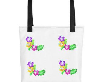 Hibiscus floral travel Tote bag