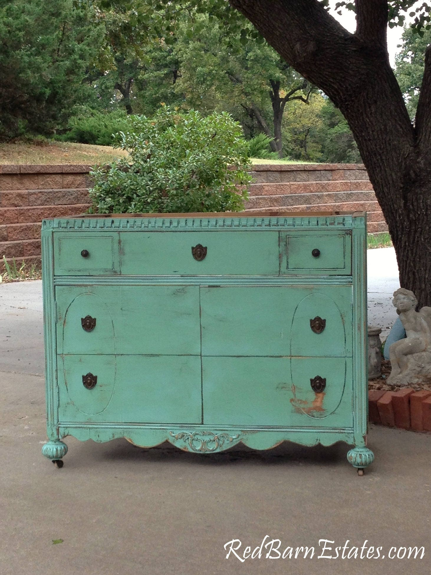 Bathroom Vanity Shabby Chic Dresser Bathroom Vanity Cabinet Converted From Antique Dresser And