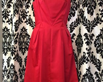 Ruby Red Satin Sweethearts Party/Prom Dress