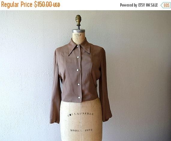 25% SALE 1940s Western gabardine jacket . vintage 40s jacket