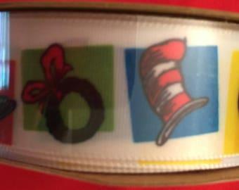 "Dr. Seuss spool ribbon - 3 yards - 7/8"" decorative ribbon"