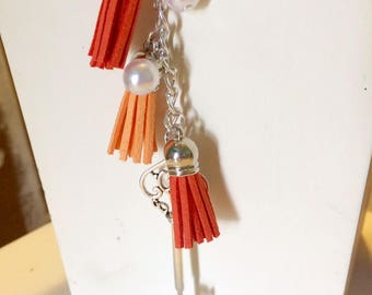 Tassel & Pearl Key Chain