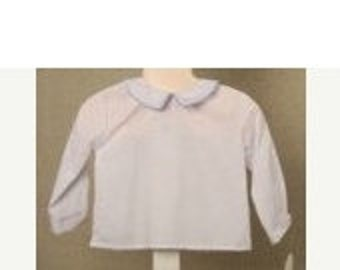SALE 50% OFF 50 Percent OFF  Peter Pan Collar Boys Long Sleeved Shirt- Sizes 3 months-6 Ready to Ship