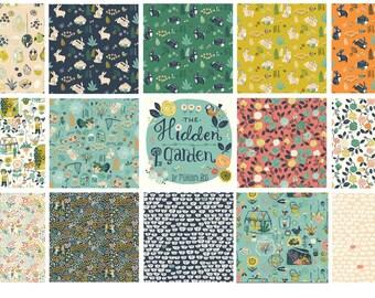 Birch Fabrics Organic  Hidden Garden Fabric Bundle (14 prints)