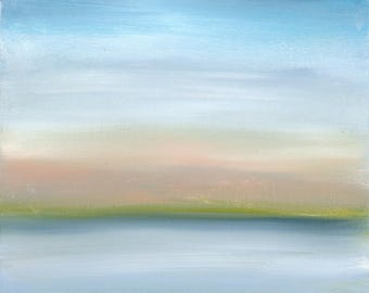 Modern Landscape, Landscape Art Print, Colorful Print, Abstract Landscape, clouds, sky, Sea, Ocean, Water