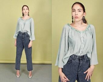 80s Acid Wash Jeans Vintage Gray Bleached High Waisted Denim