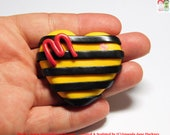 Bumble Bees. Key Rings. Ear Rings. Fridge Magnets. Handbag Charms. Fund Raising for Manchester.  Hand Sculpted Polymer Clay