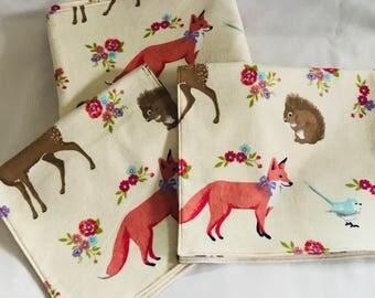 Animal Baby Set- Receiving Blanket, 2 Burp Cloths