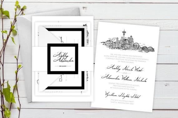 Seattle Wedding Invitations Deposit To Start Seattle Suite Hand