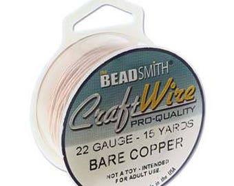 Supplies-22 Gauge Round Bare Copper Wire 15 Yards