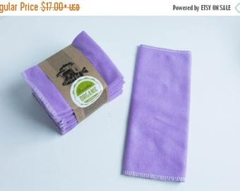 "ON SALE 20% OFF - 100 Percent Organic Unpaper Towels Cloth Napkins + Organic Thread -  Set of 12 -  Choose your size (8""x 8"" or 10"" x 12"")"