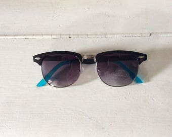 90s Deadstock Blue Clubmaster Sunglasses