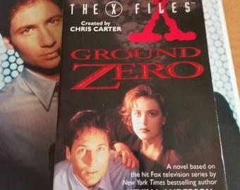 "Vintage X Files Fiction Book ""Ground Zero"" 1995"