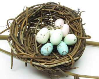 Robin's Egg Earrings Pastel Speckled Spring Bird Eggs Polymer Clay
