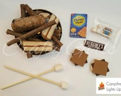 18 Inch Doll Campfire and S'mores Accessories Set RTS