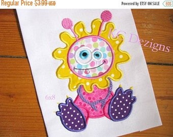 ON SALE Fun Monsters 07 Machine Applique Embroidery Design - 4x4, 5x7 & 6x8