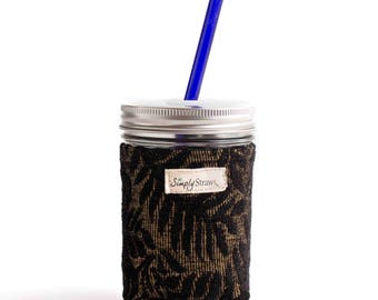 16 oz pint mason combo-wide straw