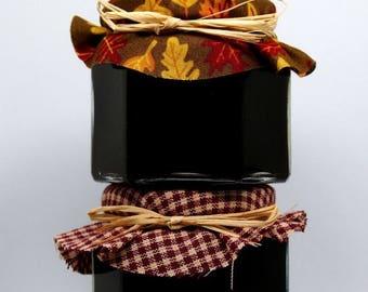 SALE 15% Off Ends Sunday 100 4 oz Wedding Party Shower Favor Fall Gingham Jam Spread the love Blackberry Favour Mason jar Hexagon Custom