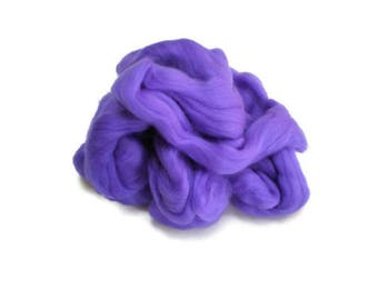 Purple Thistle Merino Wool  Fleece Roving for Felting or Spinning Australian Fleece