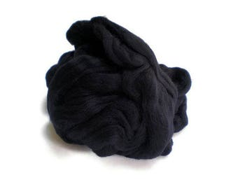 Black Merino Wool  Fleece Roving for Felting or Spinning Australian Fleece