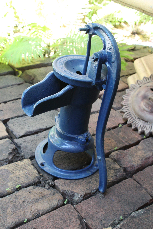 Antique Water Pump Cast Iron Red Jacket Cistern Pump