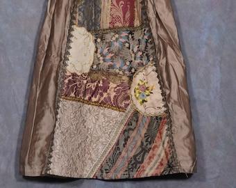 Vintage Crazy Quilt style skirt ala 80s 90s