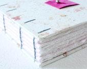 Handmade Pink Journal with handmade watercolor paper  // bridesmaid gift // gift for her // gift for girl // teacher gift // bridal shower