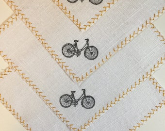Bicycle Linen Cocktail Napkins