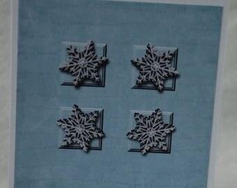 Snowflake Card Handmade Digital Photo Card