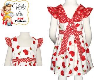 Girls Dress pdf Sewing Pattern. Childrens Instant Digital Download. Girls Spring Dresses. Girls Top Pattern. Toddler Dress Pattern. Danie