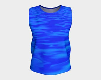 Stylish Blue Tank Top with Savy and ARTitude - Thirty-Five