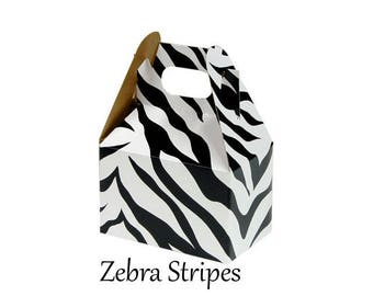 Boxes ,  Zebra Stripes Take Out Boxes & Containers , Black Gable Boxes , Barn Boxes , Mini Gable Boxes , Favors, gifts,