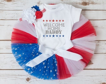 Welcome home daddy outfit, homecoming outfit baby girl, deployment homecoming outfit, military homecoming outfit girl toddler girl baby girl