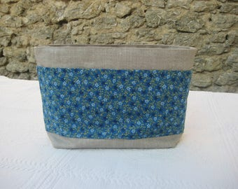 Bag Organizer seven pockets in floral linen and cot