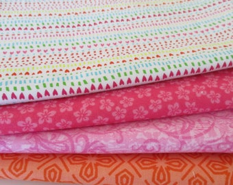 Quilting Fabric Bundle - Fabric by the Yard -  1/2 Yard Fabric Bundle - Total 2 Yards - Cotton Fabric - Designer Fabric