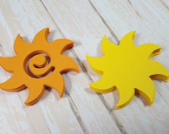 Sunshine die cuts, Great Embellishments