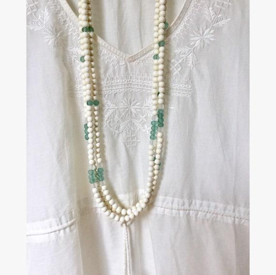 eco friendly jewelry, recycled bead necklace, beachcomber beach jewelry