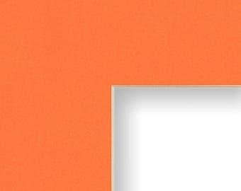 8x10 Inch Mat, 3.5x5 Inch Single Opening Image, Orange with Cream Core (B15208103505)
