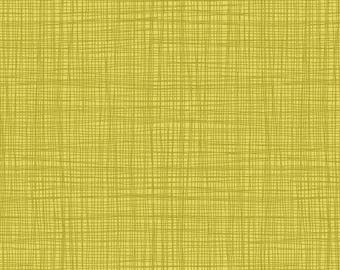 Linea - Linea in Sulfur - Makower UK for Andover Fabrics - TP-1525-Y - 1/2 yd