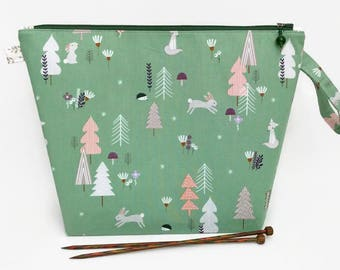 Medium Wide-Mouth Wedge Bag - Forest Talk